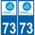 73 Savoie autocollant plaque immatriculation auto département sticker Auvergne-Rhône-Alpes logo 3