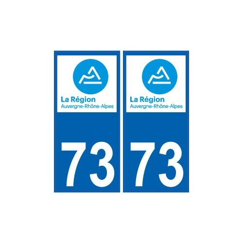 73 savoie autocollant plaque immatriculation auto d partement sticker auvergne rh ne alpes logo 3. Black Bedroom Furniture Sets. Home Design Ideas