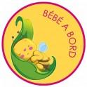 sticker baby on board bee sticker logo 2-2