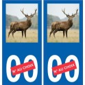 Autocollant plaque immatriculation image de cerf