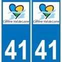 41 Loir-et-Cher autocollant plaque immatriculation auto département sticker Centre-Val de Loire logo