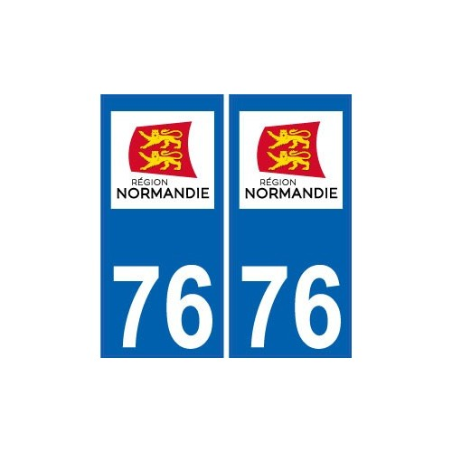 76 seine maritime autocollant plaque immatriculation auto d partement sticker normandie nouveau logo. Black Bedroom Furniture Sets. Home Design Ideas