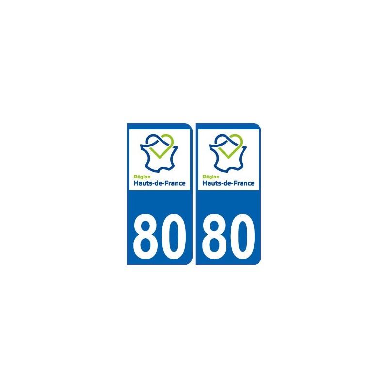 80 somme autocollant plaque immatriculation auto haut de france d partement sticker nouveau logo. Black Bedroom Furniture Sets. Home Design Ideas
