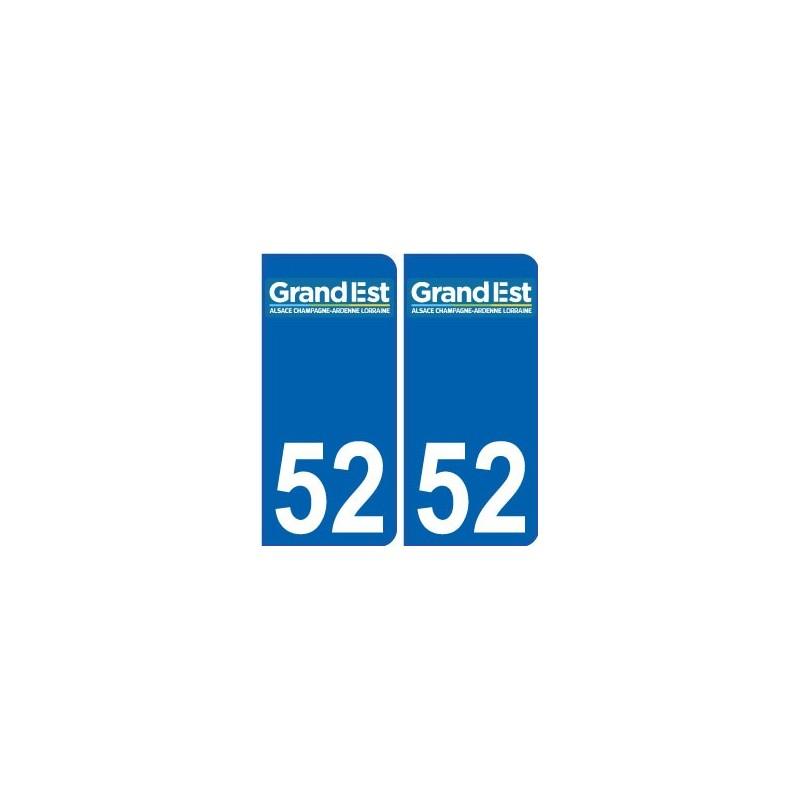 52 haute marne autocollant plaque immatriculation auto for 52 haute marne
