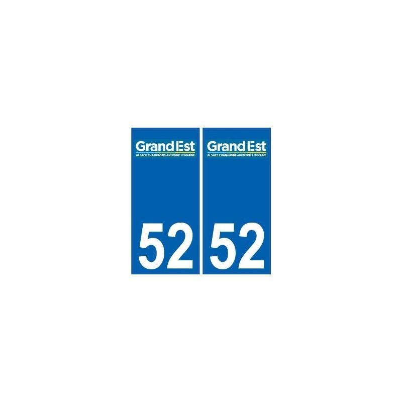 52 haute marne autocollant plaque immatriculation auto for Haute marne 52