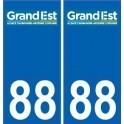 88 Vosges autocollant plaque immatriculation auto département sticker Grand-Est nouveau logo