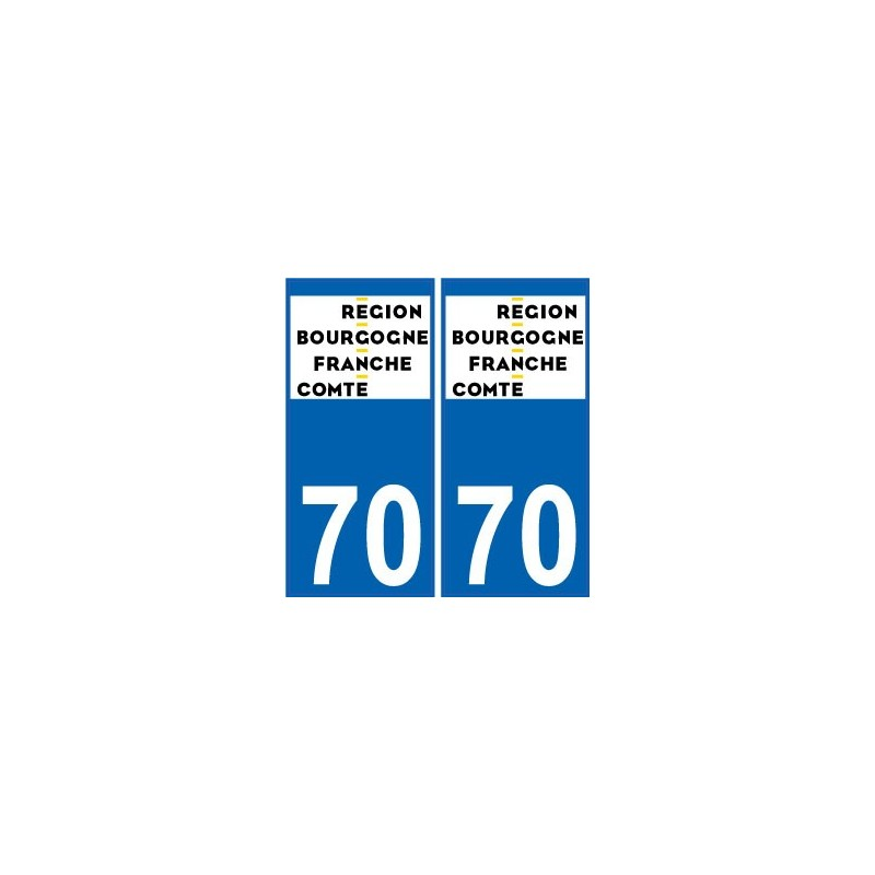 70 haute sa ne autocollant plaque immatriculation auto for 70 haute saone