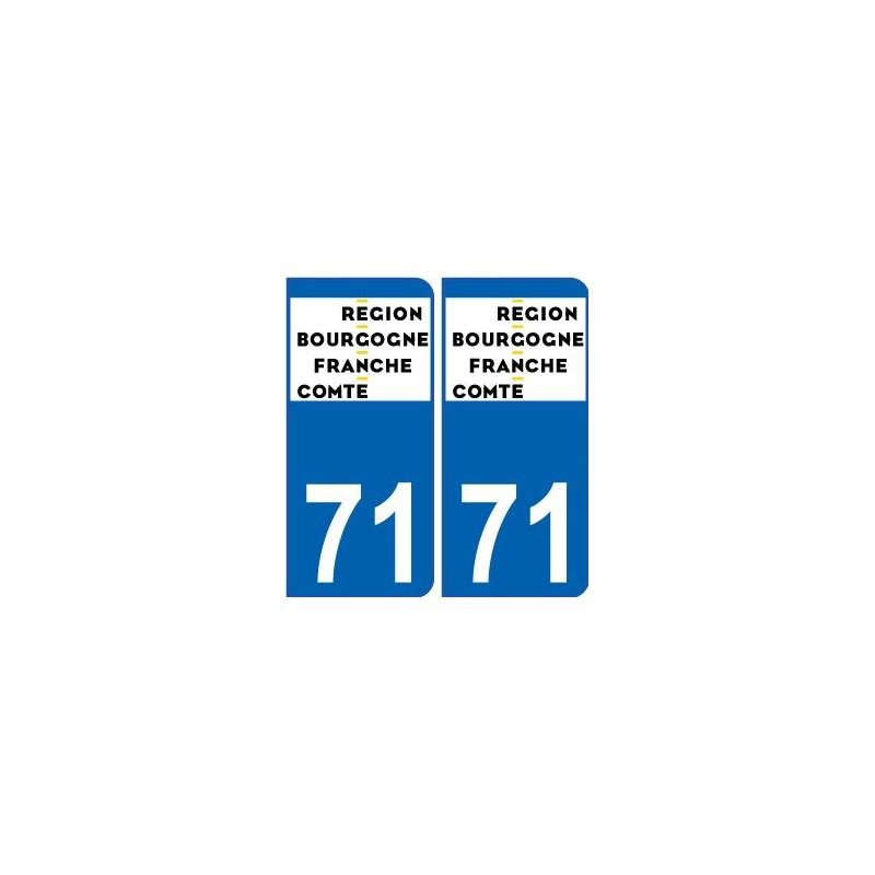 71 sa ne et loire autocollant plaque immatriculation auto d partement sticker bourgogne franche. Black Bedroom Furniture Sets. Home Design Ideas