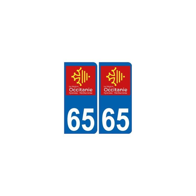 65 hautes pyr n es autocollant plaque immatriculation auto d partement sticker occitanie nouveau. Black Bedroom Furniture Sets. Home Design Ideas