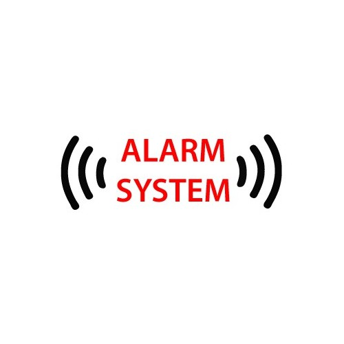 autocollant alarme voiture sticker alarm system. Black Bedroom Furniture Sets. Home Design Ideas