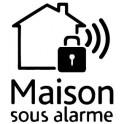 Stickers house under surveillance, alarm 13