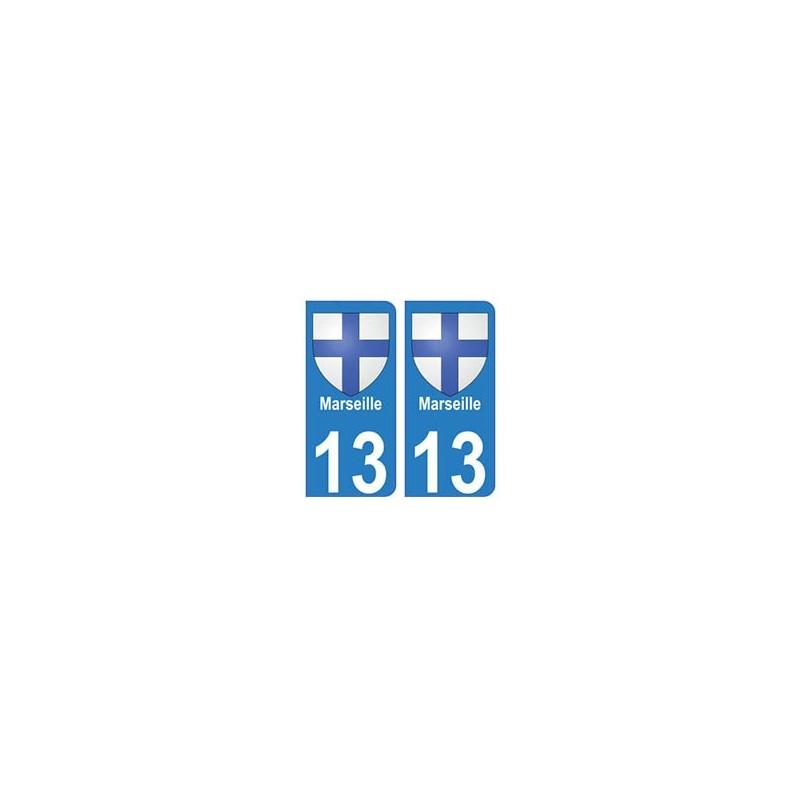 marseille 3 ville 13 autocollant plaque immatriculation d partement. Black Bedroom Furniture Sets. Home Design Ideas