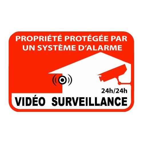 autocollants surveillance video propriete alarme. Black Bedroom Furniture Sets. Home Design Ideas
