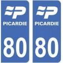 80 Somme autocollant plaque