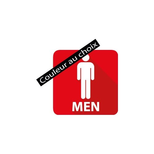 Autocollant toilette homme avec la couleur au choix
