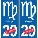 Vierge astrologie autocollant plaque auto logo 1