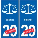 Balance astrologie autocollant plaque auto logo 2