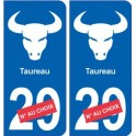 Taureau astrologie autocollant plaque auto logo 2
