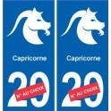 Capricorne astrologie autocollant plaque auto logo 2