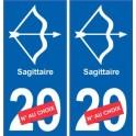 Sagittaire astrologie autocollant plaque auto logo 2