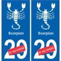 Scorpion astrologie autocollant plaque auto logo 2