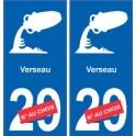 Verseau astrologie autocollant plaque auto logo 2