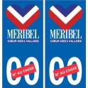 Méribel logo autocollant plaque stickers station de ski