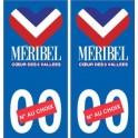 Méribel logo autocollant plaque stickers station de ski