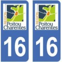 16 Charente autocollant plaque