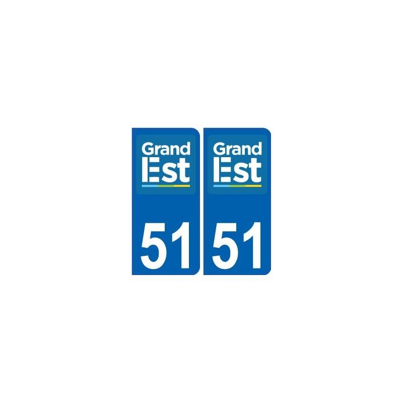 51 marne autocollant plaque immatriculation auto d partement sticker grand est nouveau logo. Black Bedroom Furniture Sets. Home Design Ideas