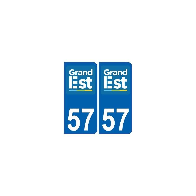 57 moselle autocollant plaque immatriculation auto d partement sticker grand est nouveau logo. Black Bedroom Furniture Sets. Home Design Ideas