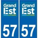 57 Moselle autocollant plaque immatriculation auto département sticker Grand-Est nouveau logo