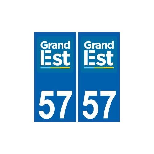 F IMMATRICULATION LOGO GRAND EST 57 MOSELLE 4 STICKERS LOGO REGION