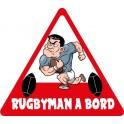 Autocollant rugbyman à bord