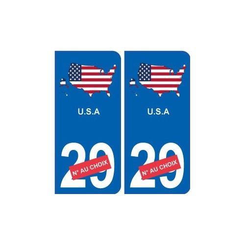 etats unis carte drapeau autocollant sticker plaque immatriculation. Black Bedroom Furniture Sets. Home Design Ideas