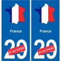 France carte drapeau autocollant sticker plaque immatriculation