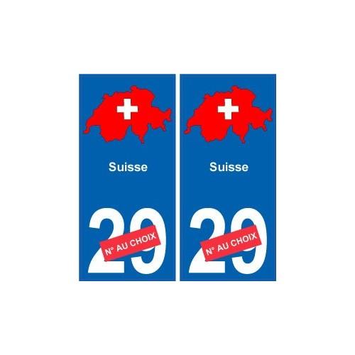 suisse carte drapeau autocollant sticker plaque immatriculation. Black Bedroom Furniture Sets. Home Design Ideas