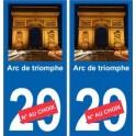 Arc de triomphe autocollant plaque monument numéro au choix