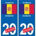 Andorre Andorra sticker numéro département au choix autocollant plaque immatriculation auto