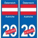 Autriche Österreich sticker numéro département au choix autocollant plaque immatriculation auto