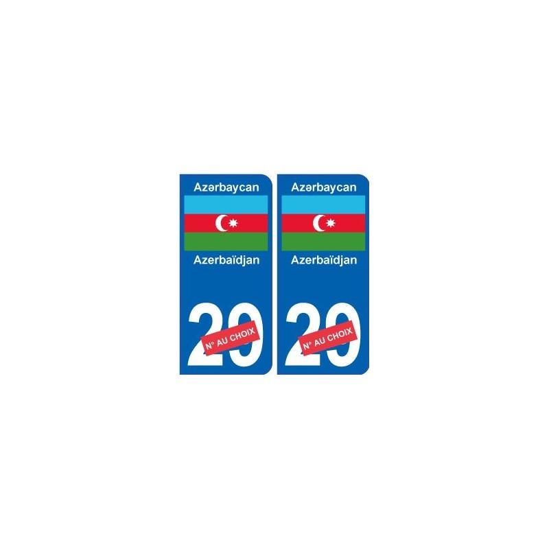 azerba djan az rbaycan sticker num ro d partement au choix autocollant plaque immatriculation auto. Black Bedroom Furniture Sets. Home Design Ideas