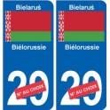 Biélorussie Bielaruś sticker numéro département au choix autocollant plaque immatriculation auto