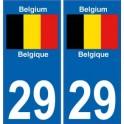 Belgique Belgium sticker numéro département au choix autocollant plaque immatriculation auto