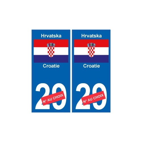 croatie hrvatska sticker num ro d partement au choix