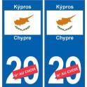 Chypre Kýpros sticker numéro département au choix autocollant plaque immatriculation auto