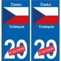Tchéquie Česko sticker numéro département au choix autocollant plaque immatriculation auto