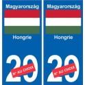 Hongrie Magyarország sticker numéro département au choix autocollant plaque immatriculation auto