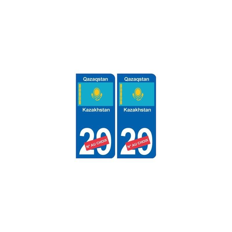 kazakhstan qazaqstan sticker num ro d partement au choix. Black Bedroom Furniture Sets. Home Design Ideas