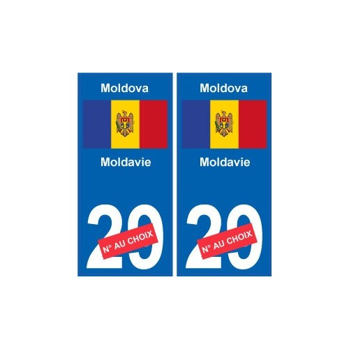 moldavie moldova sticker num ro d partement au choix autocollant plaque immatriculation auto. Black Bedroom Furniture Sets. Home Design Ideas