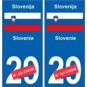 Slovenia Slovenija sticker number department choice sticker plaque immatriculation auto